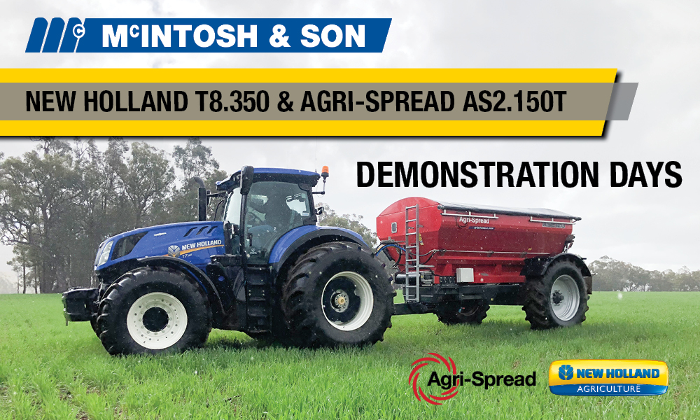McIntosh & Son agrispread new holland demonstrations